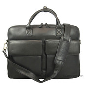 "Osgood Marley Shane Slim Leather 15.6"" Laptop Briefcase - Black"