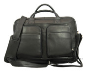 Osgoode Marley Daniel Double Pocket Leather Laptop Briefcase