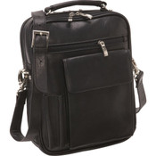 Osgoode Marley Large Leather Travel Pack Tablet Bag Black