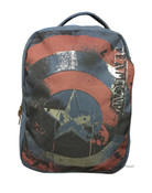 Marvel Comic Civil War Captain America Canvas Backpack