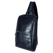 Harvest Label Leather Venue Sling Pack Tablet Bag - Navy