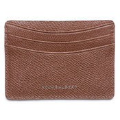 Hook & Albert Pebbled Leather Mens Credit Card Holder - Brown