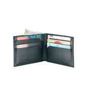 Victorinox Men's Altius Edge Appolonios Leather Slim Bi-fold Wallet W/ RFID - Black