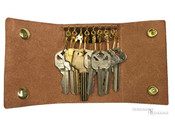 Norwalk Luggage Belting Leather 8 Hook Key Case - Tan