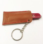 Norwalk Luggage Belting Leather Knife Pouch Key Ring for Swiss Army Knife