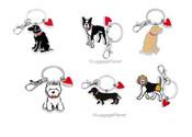 Marc Tetro Dog Keyring Key Chain