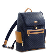 Rioni Cambridge Top Loading Travel Daypack Backpack - Signature Navy
