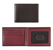 Johnston & Murphy Flip Bifold Leather Wallet Brown/Burgundy