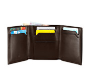 Victorinox Altius Edge Euler RFID Leather Tri-Fold Wallet - Dark Earth