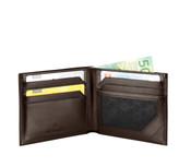 Victorinox Men's Altius Edge Zenon  Leather Bi-fold Wallet With Rfid - Dark Earth