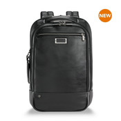 Briggs & Riley @Work Leather Medium Laptop Business Backpack - Black