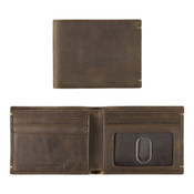 Johnston & Murphy RFID Mens Slimfold Leather Wallet - Tan Oiled Full Grain