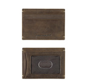 Johnston & Murphy RFID Mens Weekender Card Case Wallet - Tan Oiled Full Grain