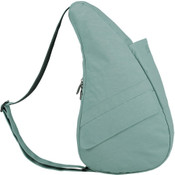 AmeriBag Healthy Back Bag Distressed Nylon Shoulder Bag Small - Aqua
