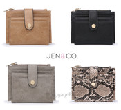 JEN & CO  Mini Snap Wallet Card Holder Coin Purse Wallet
