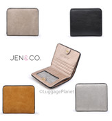 JEN & CO Kye RFID Snap Closure ID Credit Card Wallet