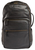 Johnston & Murphy Pebbled Leather Mens Business Backpack Black
