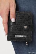 Simply Noelle Snakeskin Mini Snap Womens Wallet Vegan Leather