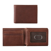 Johnston & Murphy Flip Bill RFID Bi Fold Mens Leather Wallet - Whiskey