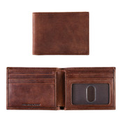Johnston & Murphy Slimfold RFID Bi Fold Mens Leather Wallet - Whiskey