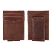Johnston & Murphy Front Pocket RFID  Leather Money Clip - Whiskey