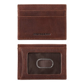 Johnston & Murphy Weekender RFID Mens Leather card case - Whiskey
