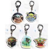 Star Wars Mandalorian The Child Baby Yoda Acrylic key chain keyring