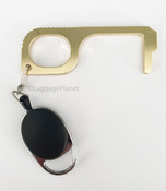 Clean Key safety contact less door opener & multi use Brass/Copper key w/ Retractable keyring - Style 2