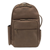 Johnston & Murphy Leather Mens Business Backpack - Brown