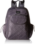 BG  Baggallini Women's Ready to Run Diaper Backpack - Smoke