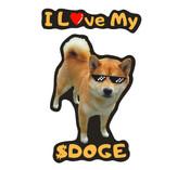 I Love My Doge Vinyl Waterproof Shiba Inu Dogecoin Sticker Decal