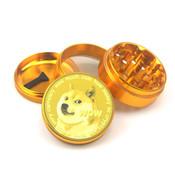 Doge Aluminum Grinder 4 Piece Crusher Herb Grinder DOGECOIN - Gold