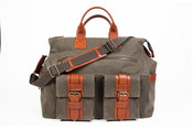 "Bosca Correspondent Excursion Bag 18"" Carry-On Canvas Satchel"