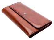 Bosca Womens Old Leather Framed Checkbook Clutch Wallet
