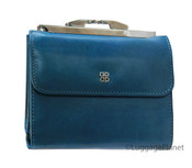 """Bosca Womens Old Leather 4"""" Framed French Purse Wallet"""