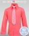 Boys Melon/Coral Button down Dress Shirt by Black n Bianco