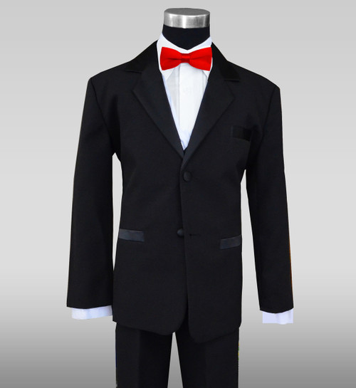 Baby Tuxedo in black with Red Bow Tie