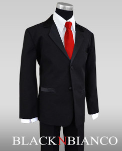 Kids Long Red Tie
