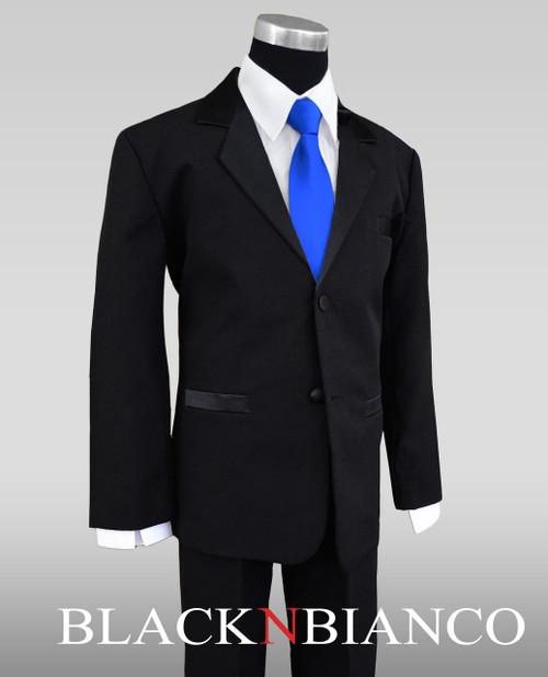 Black Wedding Tuxedo Dresswear Outfit Set with Bow Tie