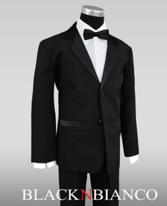 Boys Little tux suit by Black n Bianco
