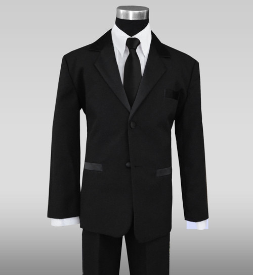 Black Tuxedo Suit for Kids with Neck Tie
