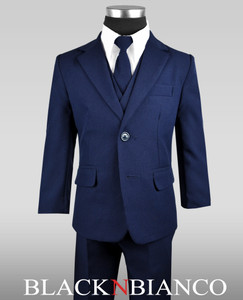 Boys Navy Suit Dress wear Set