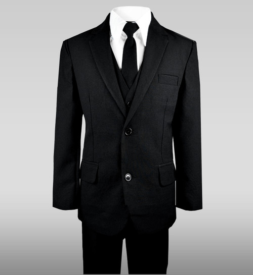 Black n Bianco Boys Two Button Kids Suit