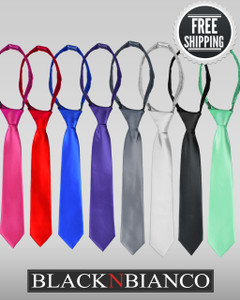 Boys Long Colored Neck Tie by Black N Bianco