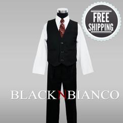 Special Sale Boys Pinstripe Vest Outfit 4 Piece Set.