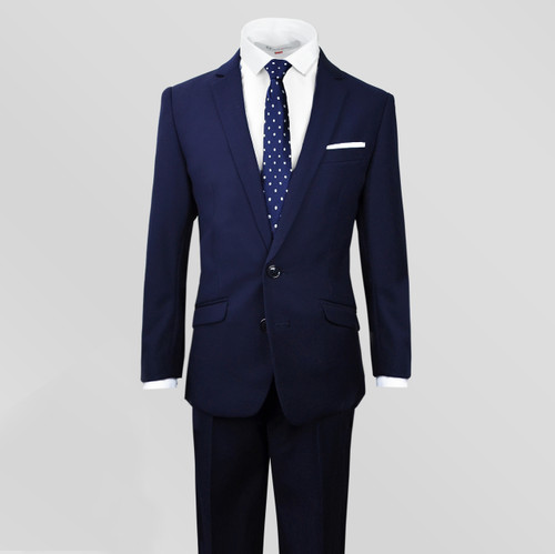 Boys Handsome and Adorable Slim Navy Suit by Black N Bianco