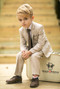 Black n Bianco Boys' Khaki Slim Fit Suit