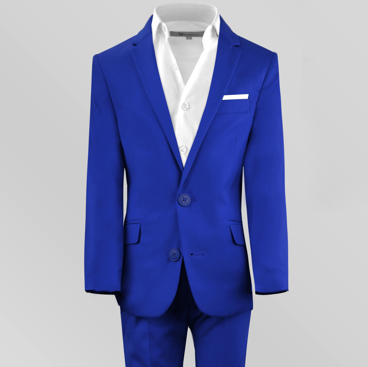 45cc88348 Black n Bianco Boys  First Class Slim Fit Suit in Blue