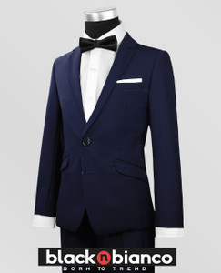Black N Bianco Signature Boys Slim Navy Tuxedo
