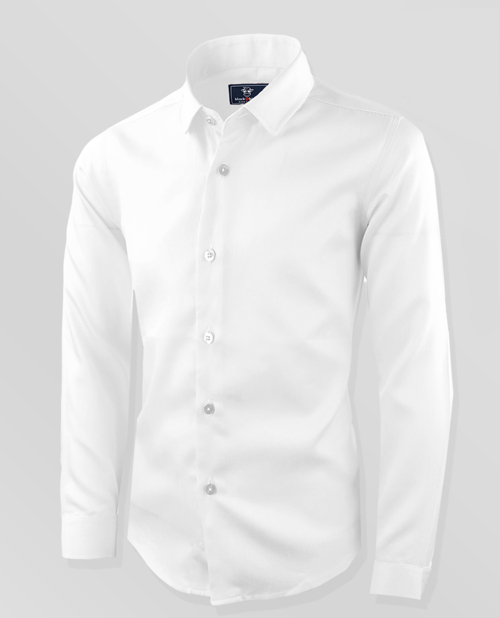 Black N Bianco Boys Signature Sateen White Button Down Dress Shirt
